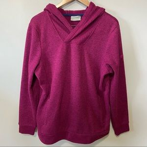 Craghoppers Magenta Ribbed Knit Hooded Pullover XL